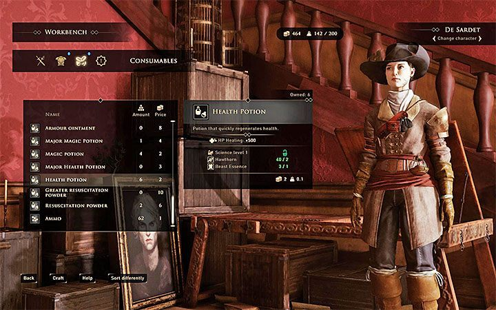 By default, you can start creating chemical compounds after reaching the crafting table and going to the tab with disposable items (called Consumables) - List of trophies in GreedFall - Achievements, Trophies - GreedFall Guide