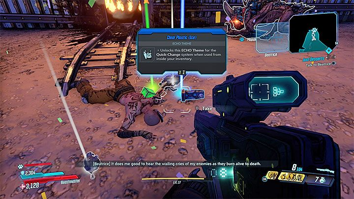 Beginnen Sie den zweiten Teil der Mission, indem Sie die Schachtel mit den Kerzen einsammeln - Pandora-return | Borderlands 3 Side Quest - Nebenmissionen - Borderlands 3 Guide