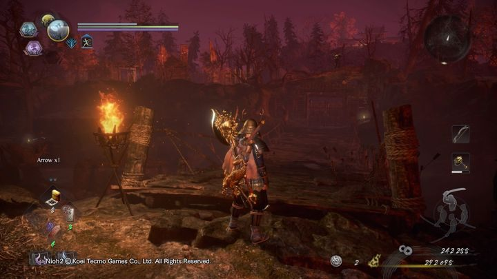 Nachdem Sie Mezuki besiegt haben, biegen Sie links ab - NiOh 2: Der Walkthrough zu High Spirited Demon - Hauptmissionen - NiOh 2 Guide