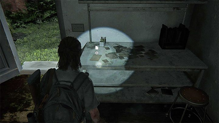 Sie finden das Dokument auf einem Tisch auf der Rückseite des Gebäudes - The Last of Us 2: Hillcrest - Sammlerstücke, Artefakte, Münzen - Seattle Day 2 - Ellie - The Last of Us 2 Guide