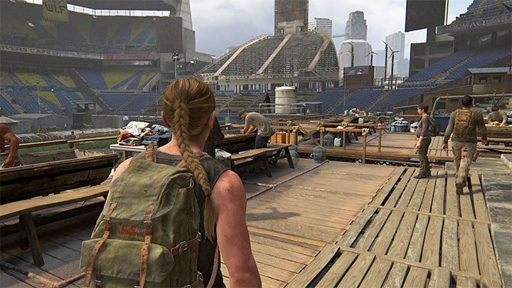 Die Möglichkeit, diese Münze zu sammeln, ergibt sich beim Abstieg von den Tribünen des Stadions - The Last of Us 2: The Stadium - Sammlerstücke, Artefakte, Münzen - Seattle Day 1 - Abby - The Last of Us 2 Guide