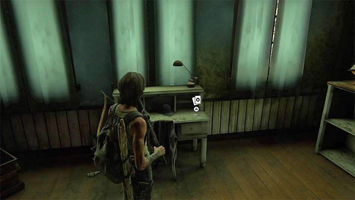 Die Karte befindet sich auf einem Schreibtisch im Gebäude - The Last of Us 2: Pushing Inland - Sammlerstücke, Artefakte, Münzen - Santa Barbara - The Last of Us 2 Guide