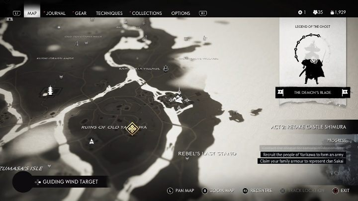 Ort: Yarikawa-Festung - Ghost of Tsushima: Aufzeichnungen - Geheimnisse, Missables, Video-Guide - Geheimnisse und Sammlerstücke - Ghost of Tsushima-Guide, Walkthrough