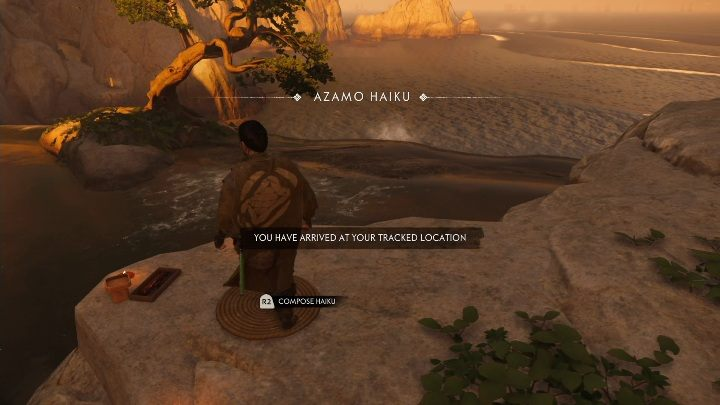 Haiku kann auf einem Berg neben dem Wasserfall ausgeführt werden - Ghost of Tsushima: Haiku, Geheimnisse der Region Izuhara, Videoguide - Izuhara Region - Ghost of Tsushima Guide, Walkthrough
