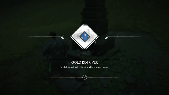 This Pillar of Honour is found in the middle of the field, all you need to do is to stray off the path a little bit and you discover the Gold Koi River - Ghost of Tsushima: Pillars of Honor, Toyotama Region secrets map, video guide - Toyotama Region - Ghost of Tsushima Guide, Walkthrough