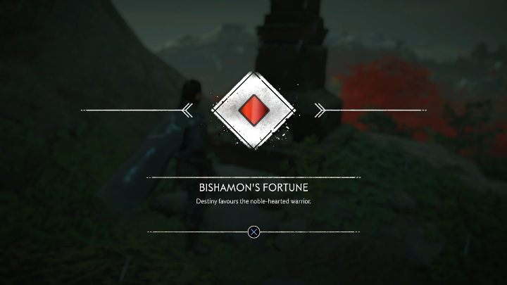 This Pillar of Honor stands on top of a huge mountain - Ghost of Tsushima: Pillars of Honor, Toyotama Region secrets map, video guide - Toyotama Region - Ghost of Tsushima Guide, Walkthrough