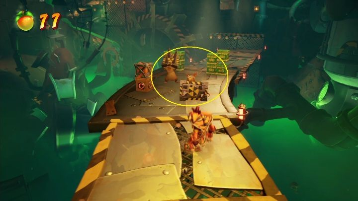 Es werden Ratten mit Schildern im Weg sein - Crash 4: Walkthrough zur Nitro-Verarbeitung - Cortex Island - Crash 4 Guide, Walkthrough