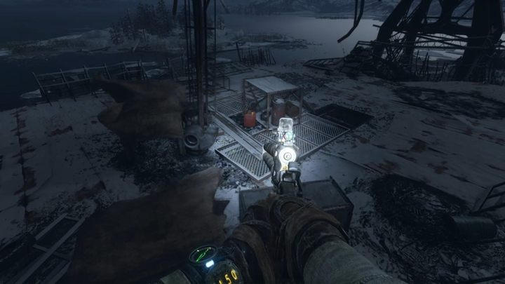 Scrollen Sie durch den Ort und fahren Sie dann in Pfeilrichtung fort - Wolga - Auf der Suche nach Krest - Metro Exodus Walkthrough - Wolga - Metro Exodus Guide
