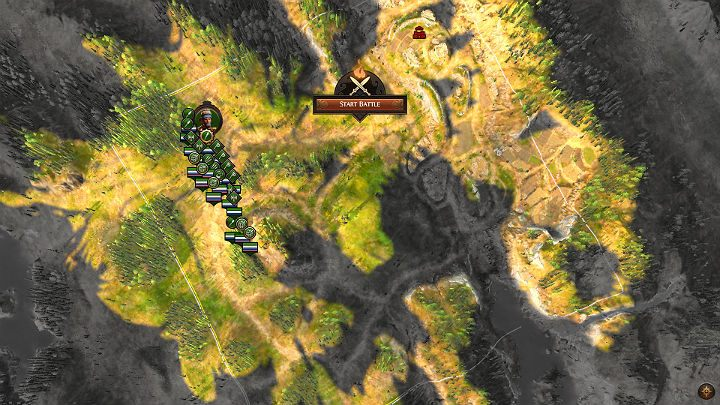 The image above shows a battlefield that consists largely of forests - Total War Troy: Battles - how to fight? - Basics - Total War Troy Guide