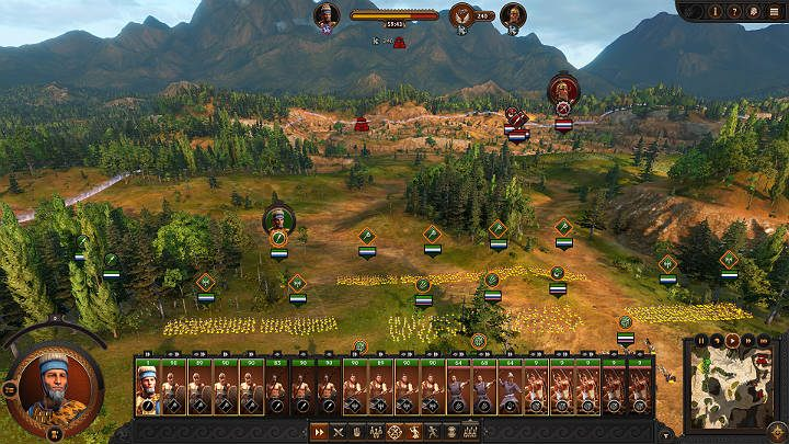 Try moving your troops around the battlefield in such a way as not to break their formation, which you carefully set before the battle began - Total War Troy: Battles - how to fight? - Basics - Total War Troy Guide