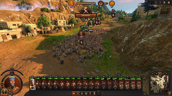 When you force your opponents troops to retreat, you will see a Grim Reaper icon under the units and leaders icons - Total War Troy: Battles - how to fight? - Basics - Total War Troy Guide