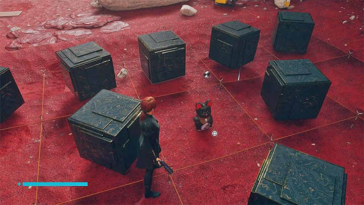 You can now pick up the cat figurine that appeared between the cubes - Control The Foundation: Maneki-neko figurines - secrets - Secrets - Control Guide