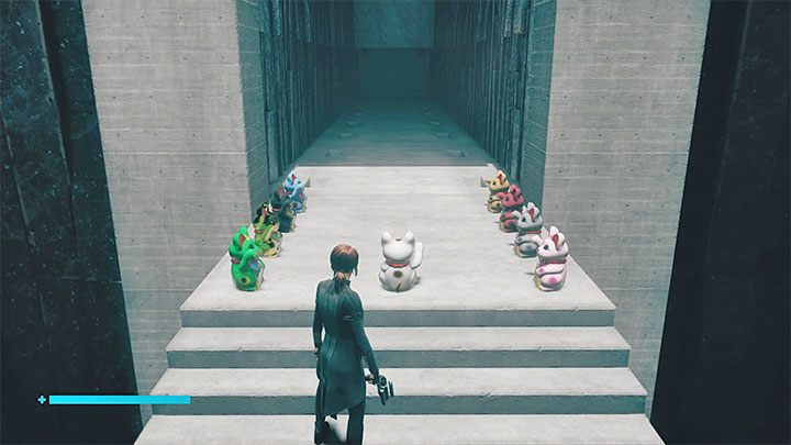 There should be 9 cats in this place - 1 that has been already here and 8 that you have managed to find - Control The Foundation: Maneki-neko figurines - secrets - Secrets - Control Guide