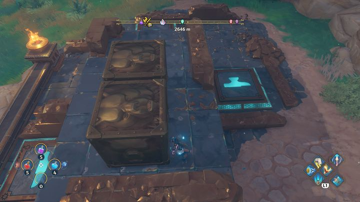 This is one of the easier puzzles to solve - Immortals Fenyx Rising: Chests (Grove of Kleos) - map - Grove of Kleos - Immortals Fenyx Rising Guide