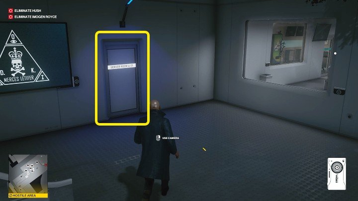 Go down the stairs and turn left inside the room - Hitman 3: Imogen Royce - how to kill her? Chongqing, China, walkthrough guide - End Of An Era - Chongqing - Hitman 3 Guide