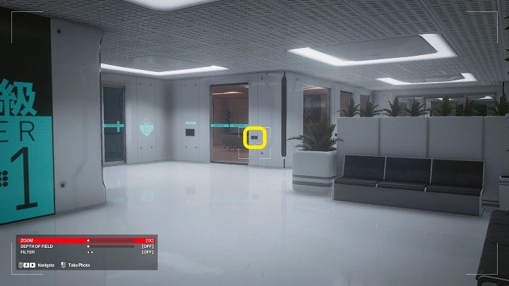Use thecamera to hack the terminal at the door leading to the break room - this will black out the windows - Hitman 3: Imogen Royce - how to kill her? Chongqing, China, walkthrough guide - End Of An Era - Chongqing - Hitman 3 Guide