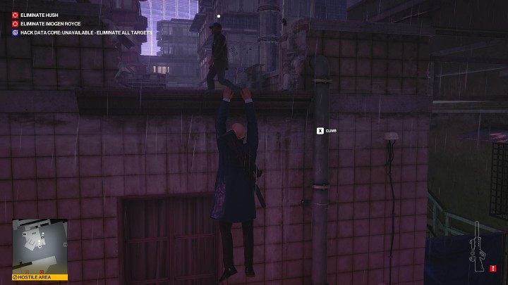 At some point, the guards will move upstairs - Hitman 3: Imogen Royce - how to kill her? Chongqing, China, walkthrough guide - End Of An Era - Chongqing - Hitman 3 Guide
