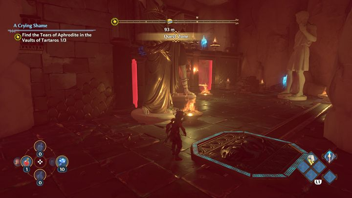 There you will find an entrance to a cave and inside you will have to solve more puzzles to unlock the entrance to a Vault, where the tear is located - Immortals Fenyx Rising: A Crying Shame - walkthrough - Aphrodites quests - Immortals Fenyx Rising Guide