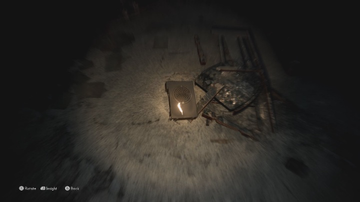 Examine the recorder lying on the floor in the corner of the room - The Medium: Echoes - list - Secrets and Collectibles - The Medium Guide