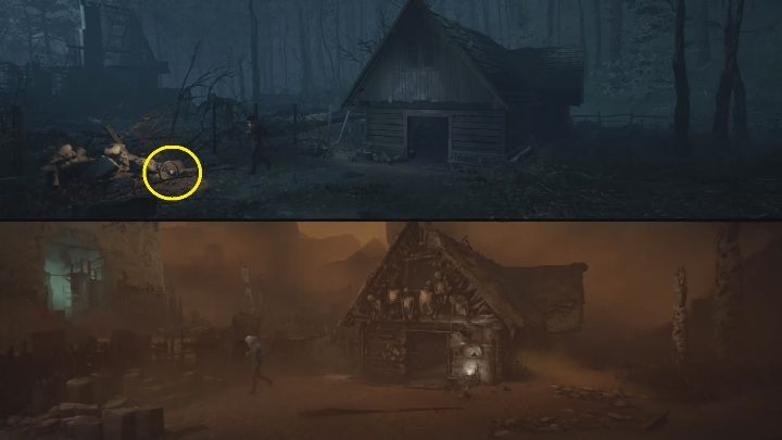 Location: in front of the workshop and the Red House - The Medium: Echoes - list - Secrets and Collectibles - The Medium Guide