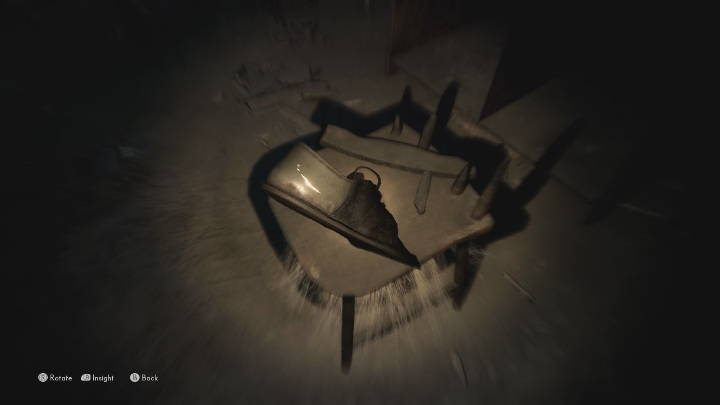 To find this echo you must examine the shoe lying on the destroyed chair - The Medium: Echoes - list - Secrets and Collectibles - The Medium Guide