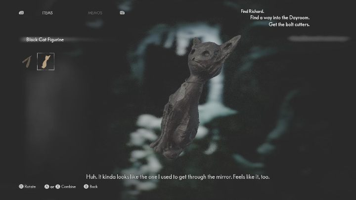 After freeing Bernard's soul, you will get a black cat figurine - The Medium: On the other side of the mirror - walkthrough - Walkthrough - The Medium Guide
