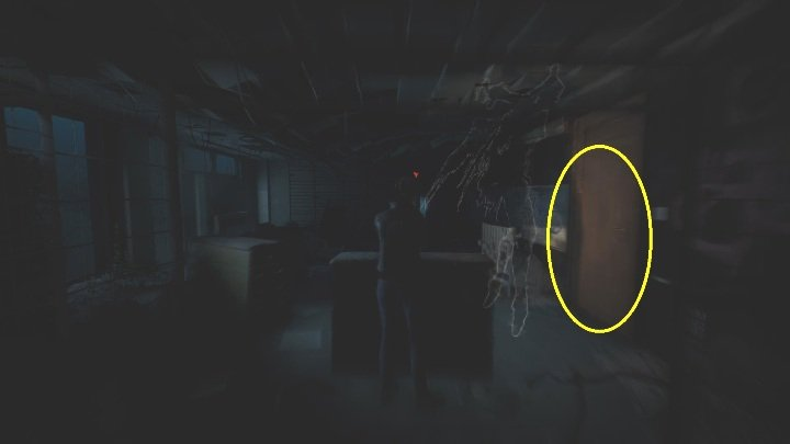Hide behind the crate and hold your breath - The Medium: On the other side of the mirror - walkthrough - Walkthrough - The Medium Guide