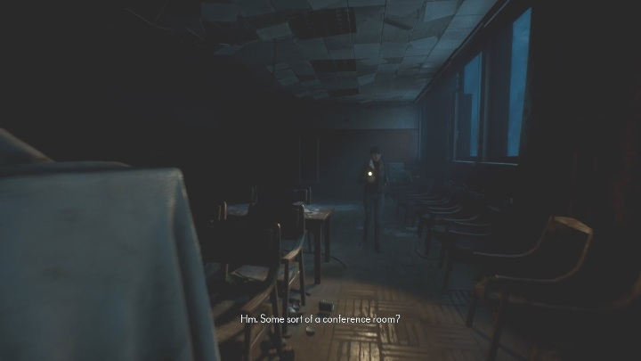 In the conference room, you'll find some small items that can come in very handy, mainly for getting the achievements - The Medium: On the other side of the mirror - walkthrough - Walkthrough - The Medium Guide