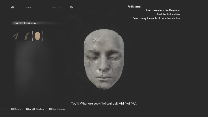 You will find a mask - The Medium: On the other side of the mirror - walkthrough - Walkthrough - The Medium Guide