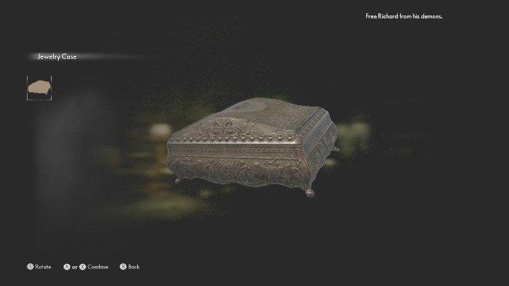 Go back to the wooden bookcase and pick up the jewelry box - The Medium: Richards House - walkthrough - The Medium Guide