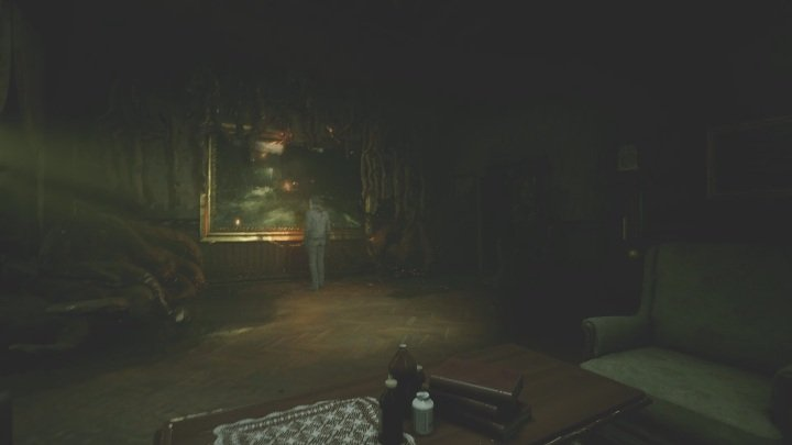 You must also use a spirit blast to unlock the entrance to the next painting - The Medium: Richards House - walkthrough - The Medium Guide