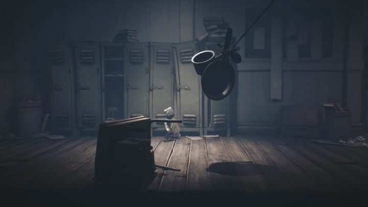 And another trap - pans - Little Nightmares 2: School - guide, walkthrough description - Chapter 2 - Orphanage - Little Nightmares 2 Guide
