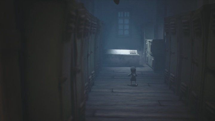 As you approach the cabinet it will fall right on your head - Little Nightmares 2: School - guide, walkthrough description - Chapter 2 - Orphanage - Little Nightmares 2 Guide