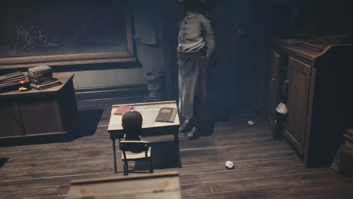 In the classroom, you will come out of your locker - Little Nightmares 2: School - guide, walkthrough description - Chapter 2 - Orphanage - Little Nightmares 2 Guide