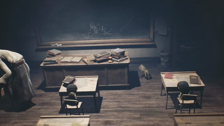 The perfect place to hide would be on a desk - Little Nightmares 2: School - guide, walkthrough description - Chapter 2 - Orphanage - Little Nightmares 2 Guide