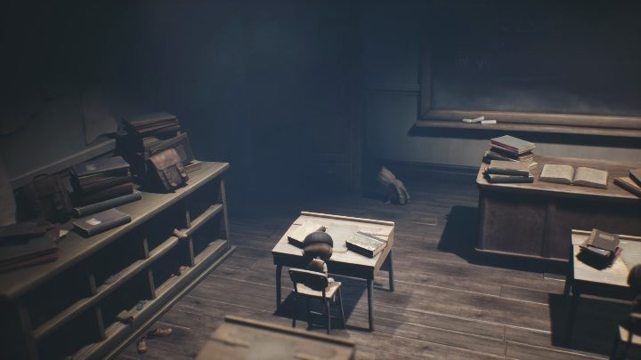 Wait for the moment when the teacher disappears on the left side of the screen - Little Nightmares 2: School - guide, walkthrough description - Chapter 2 - Orphanage - Little Nightmares 2 Guide