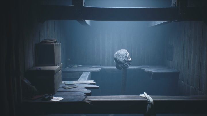 Push the board and immediately run behind the crate hidden in the left corner - Little Nightmares 2: School - guide, walkthrough description - Chapter 2 - Orphanage - Little Nightmares 2 Guide