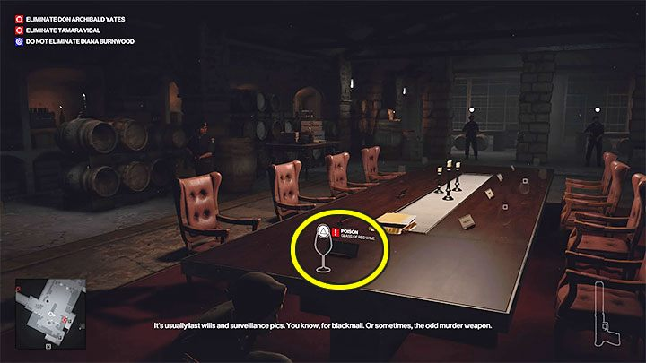 You have to sneak to the villa basement with the poison (point 43 on the map) - Hitman 3: How to unlock the Ripe for the Picking trophy/achievement? - Trophy Guide - Hitman 3 Guide
