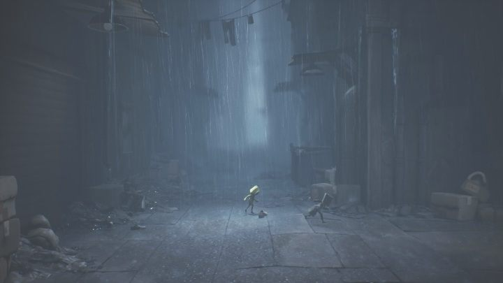 Once you manage to get outside, you will have to deal with heavy rainfall - Little Nightmares 2: Crossing the city - a guide, walkthrough - Chapter 4 - Getting to the Tower - Little Nightmares 2 Guide
