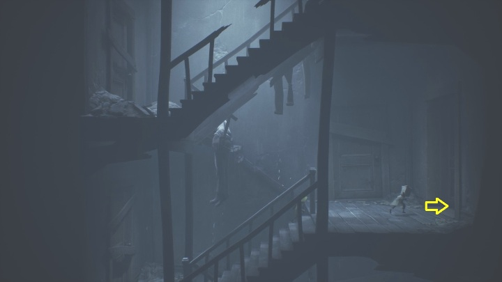 Look around for an open door leading to one of the apartments - Little Nightmares 2: Crossing the city - a guide, walkthrough - Chapter 4 - Getting to the Tower - Little Nightmares 2 Guide