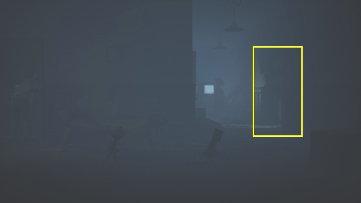 You won't be attacked in this apartment, you just have to run towards the open door located on the right side of the room - Little Nightmares 2: Crossing the city - a guide, walkthrough - Chapter 4 - Getting to the Tower - Little Nightmares 2 Guide