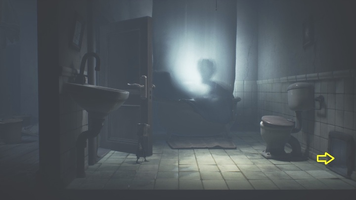 Your next task is to open the bathroom door - Little Nightmares 2: Crossing the city - a guide, walkthrough - Chapter 4 - Getting to the Tower - Little Nightmares 2 Guide