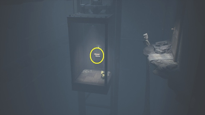 Six will show you how to hop down to the elevator - Little Nightmares 2: Crossing the city - a guide, walkthrough - Chapter 4 - Getting to the Tower - Little Nightmares 2 Guide