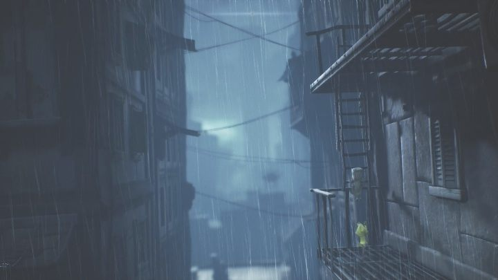Afterwards, you will spend some time climbing ladders - Little Nightmares 2: Crossing the city - a guide, walkthrough - Chapter 4 - Getting to the Tower - Little Nightmares 2 Guide