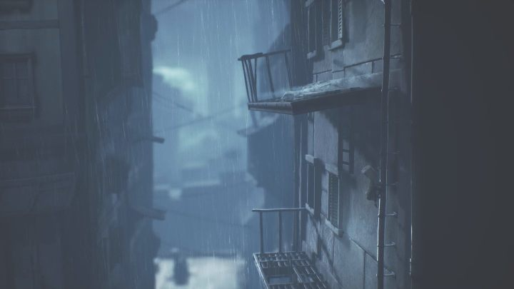 When there's no more ladders to climb, use the gutter-pipe - Little Nightmares 2: Crossing the city - a guide, walkthrough - Chapter 4 - Getting to the Tower - Little Nightmares 2 Guide