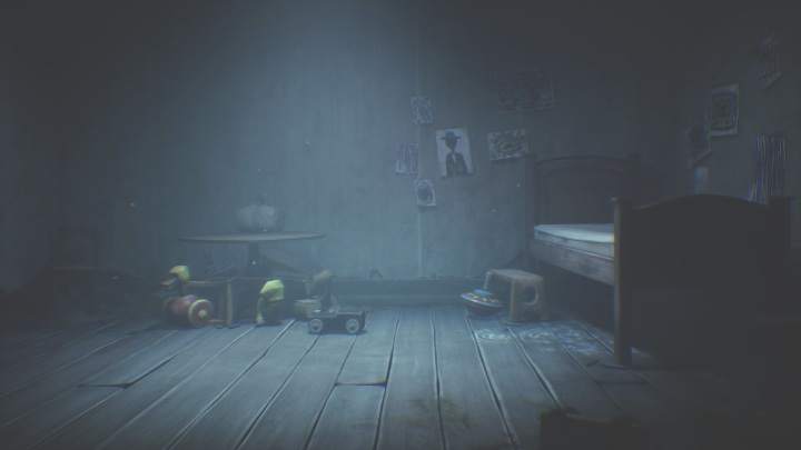 Run into the children's room and hide under the bed - Little Nightmares 2: Crossing the city - a guide, walkthrough - Chapter 4 - Getting to the Tower - Little Nightmares 2 Guide